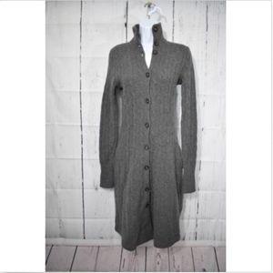 Ralph Lauren Grey Button Down Sweater Dress